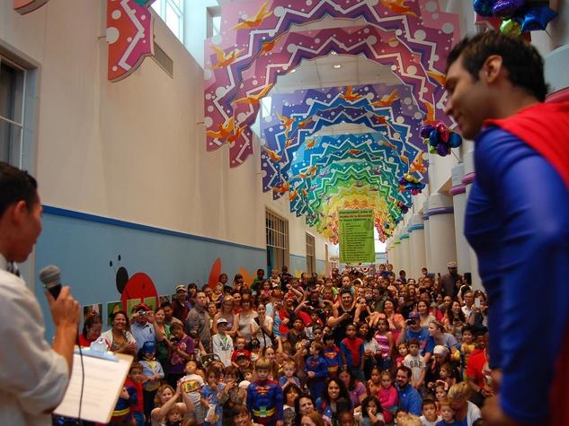 Children's Museum Houston, Superman's birthday, July 2012