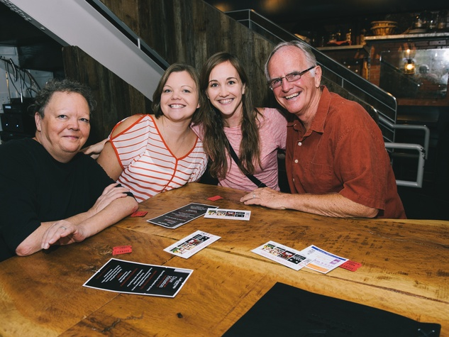 3 Kevin Riddle, from left, Emily Riddle, Kate Riddle and Doug Riddle at Dine Around Houston at Sparrow Bar & Cookshop