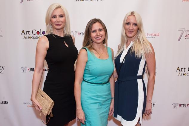 20 Ludmila Luman, from left, Natalia Nikitina and Anastasia Molodtsova Seven selected artists benefitting Bayou City Art Festival July 2014