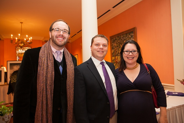 13 Joseph Roberts, from left, with Arnaud and Catherine Couturier at the Houston Center for Photography Print Auction February 2014