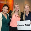 11 Christina Zhou, from left, Jennifer Roosth and Aga Kuplinski at the Ellevate launch March 2015