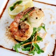 Seafood duo with tandoori shrimp, scallops and Meyer lemon