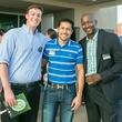 Stephen Samperi, Ahmed Elsaid, Anwar Phillips representing Tulane at CultureMap Country Club Social