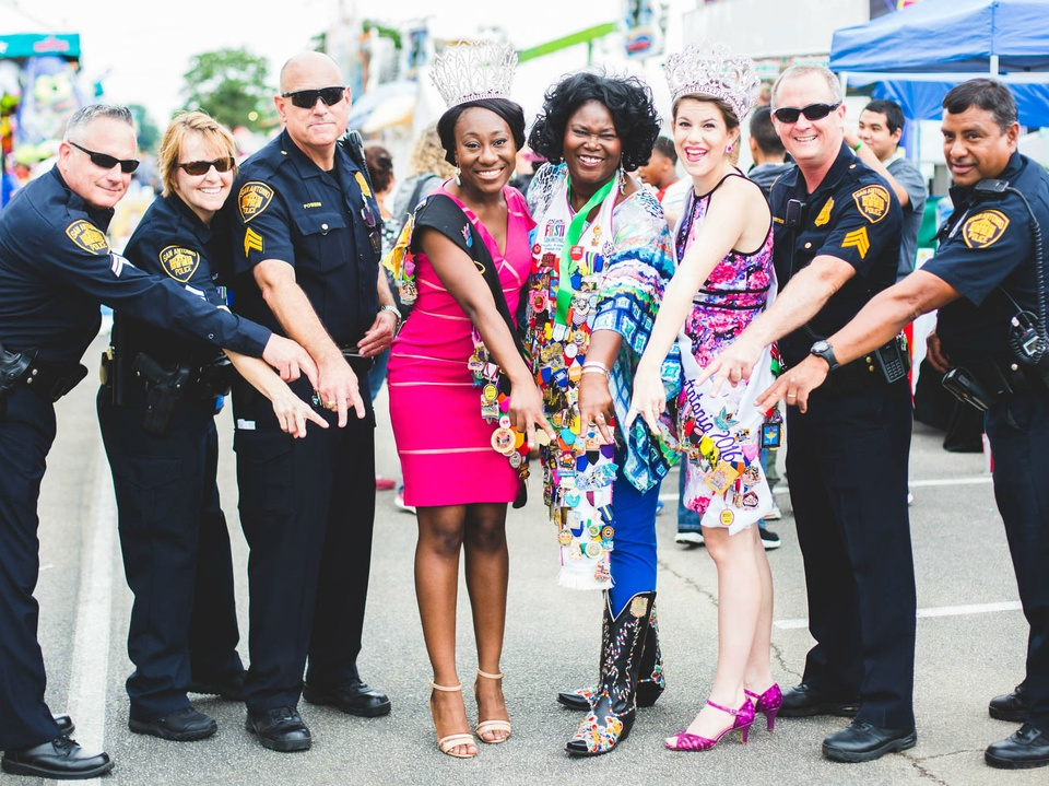 Police officers at Fiesta Especial
