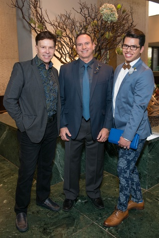 11 Jon Halbur, from left, Richard Ray and Anthony Dow at the Boys & Girls Harbor Fashion Show April 2015