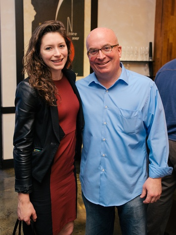 7 Cassie Kraft and John Sanders at the Artesa wine tasting at Cru March 2014