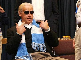 U.S. Vice President Joe Biden wears aviator sunglasses