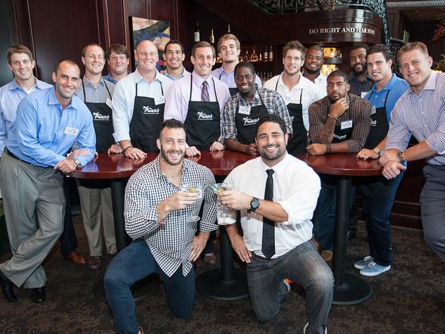 Houston Texans, Owen Daniels Celebrity Dinner, September 2012, group, football players