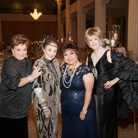 Cindy Burns, from left, Martha Turner, Trini Mendenhall and Harriet Hart at The Women's Home Gala November 2014