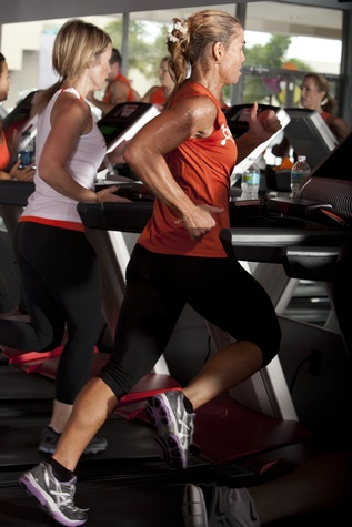 Participants training at Orangetheory Fitness