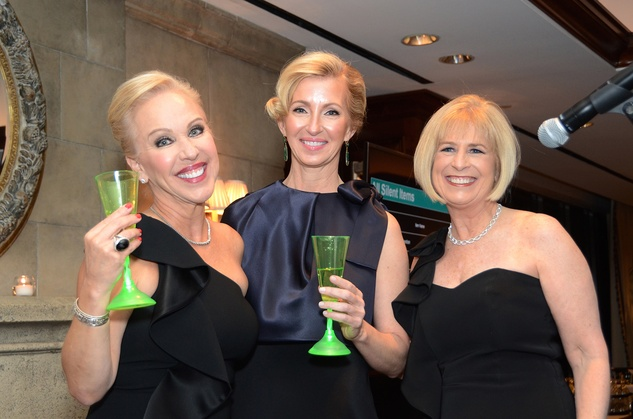 Lisa Miranda, from left, Maureen Evans and Margo Geddie at the Irish Gala November 2014