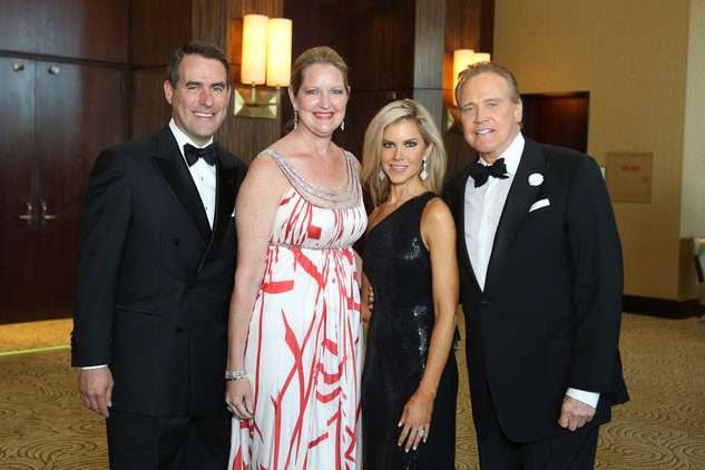 Symphony Ball, May 2015, Steve and Joella Mach; Faith and Lee Majors
