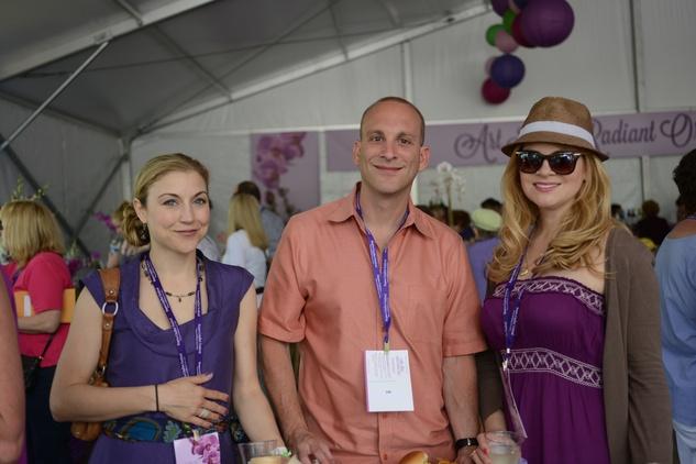 Kim Weller, from left, Mike McRoberts and Jill Vanzelfden at the Art Heist April 2014