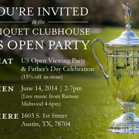 invite to U.S. Open watch party at Criquet Clubhouse austin