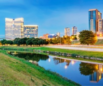 Fort Worth skyline with Trinity River