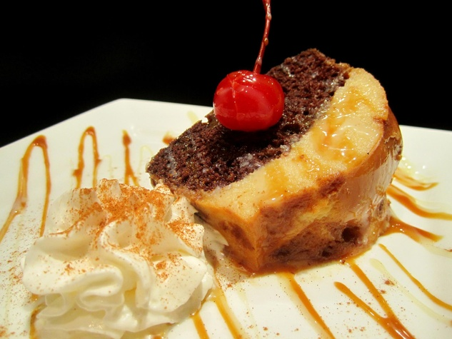 Chocoflan at Nustas Cafe