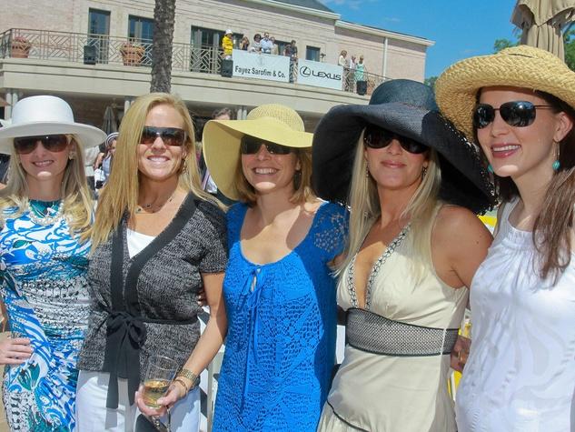 News_ROCC tennis luncheon_April 2011_Becca Thomas_Melissa Braniff, Winnie Riser_Delia Johnson_Kathleen Zinn