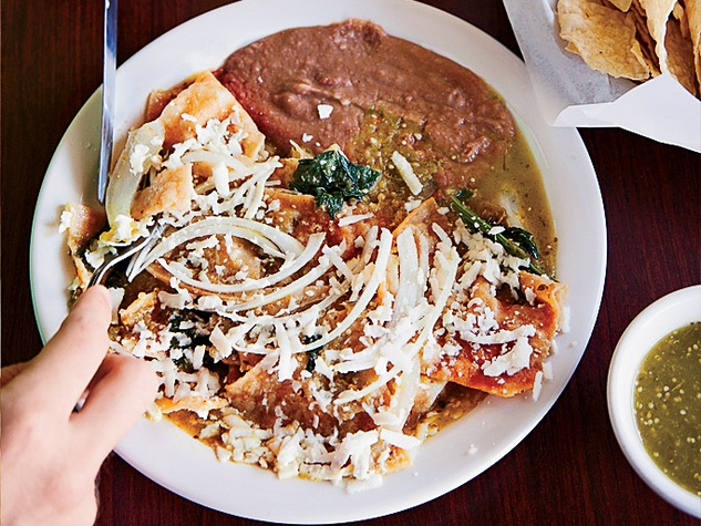 Chilaquiles at La Guadalupana Bakery & Café