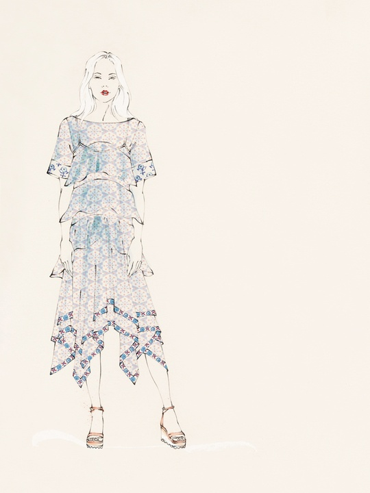 Fashion Week spring 2015 sketch Sept. 2014 Rebecca Taylor