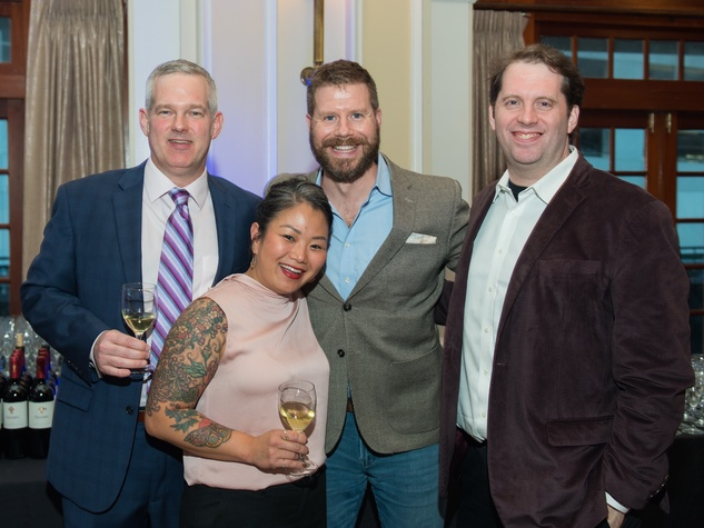 AVDA Gala sommeliers Antonio Gianola, Cat Nguyen, David Keck, Sean Beck