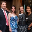 Steve and Laurie Schroeder, from left, Kelly Khron and Grace Kim at the George Rodrigue Blue Dog dinner September 2014