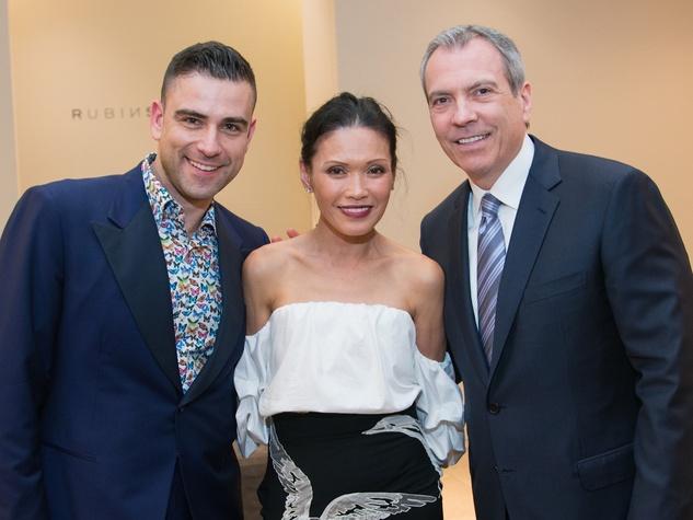 Rubin Singer, Duyen Huynh, Bob Devlin at Dress for Dinner