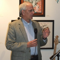 Art For the Trees if You Please exhibit, December 2012, Jim Porter chairman of The Memorial Park Conservancy