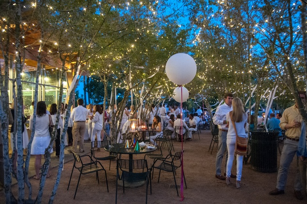 The venue at the Urban Green Birthday en Blanc May 2014