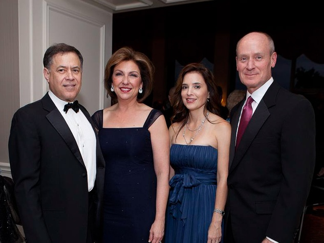 338 Gary and Maureen Clark, from left, Nancy Calles and Mark Kline at the Blue Bird Circle Gala October 2013