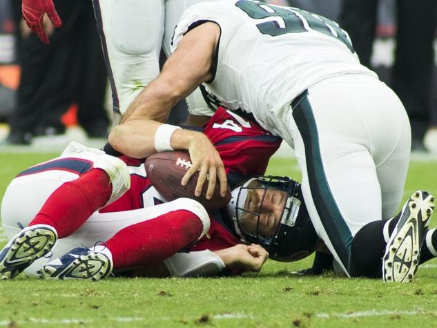 0011 Texans vs. Eagles first half November 2014 Ryan Fitzpatrick sacked by Eagles