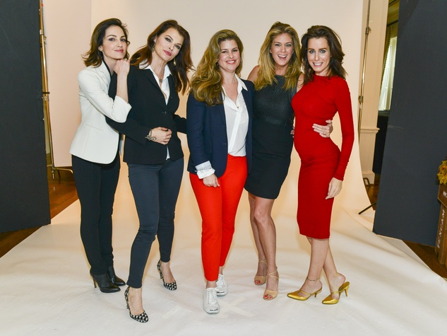 6 Chandra North, from left, Stephanie Romanov, Elena Davis, Rachel Hunter and Julie Anderson at the I Am Waters Luncheon April 2014