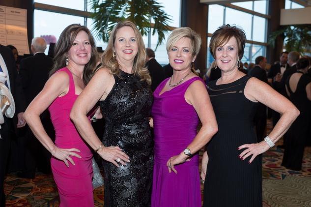 June Reeder, from left, Juliet Hubbell, Lynn Plummer and Lisa Kretzschmar at the Covenant House Gala April 2014