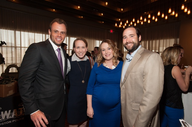 Ryan Getz, from left, Katie Eisterhold and Wimberly and Greg Barra at the Houston Police Department benefit April 2015