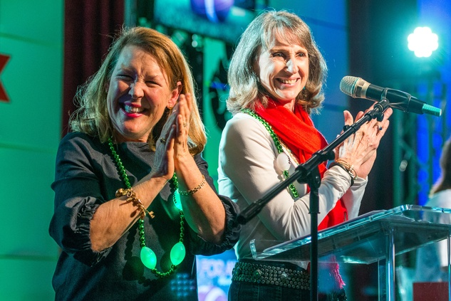 277 Laurie Vander Ploeg, left, and Kathy Johnson at the Camp For All Super Ball February 2015