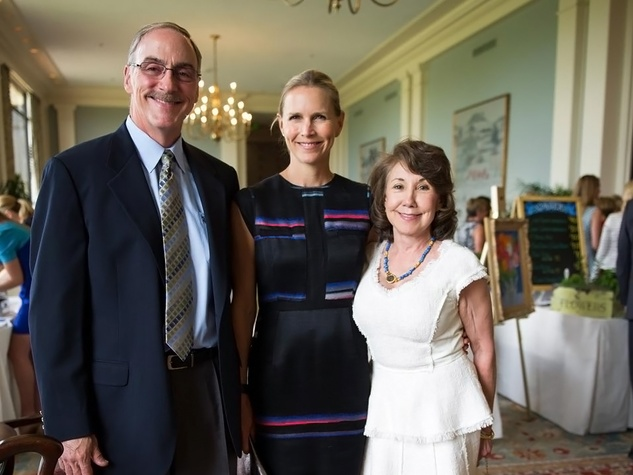 Timothy Helfin, from left, Heather Houston and Edna Houston at the Blue Bird Circle Luncheon May 2014