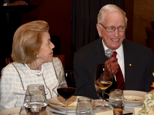 Louise and Dr. Denton A. Cooley at the Texas Heart Institute dinner April 2014