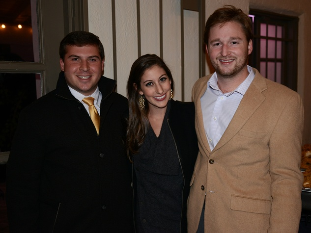 Jarrod McCade, from left, Morgan Rippy and Michael Ferguson at the Hermann Park Conservancy's Urban Green event November 2014