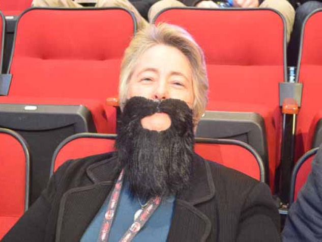 Annise Parker, beard, NBA All-Star Game, February 2013