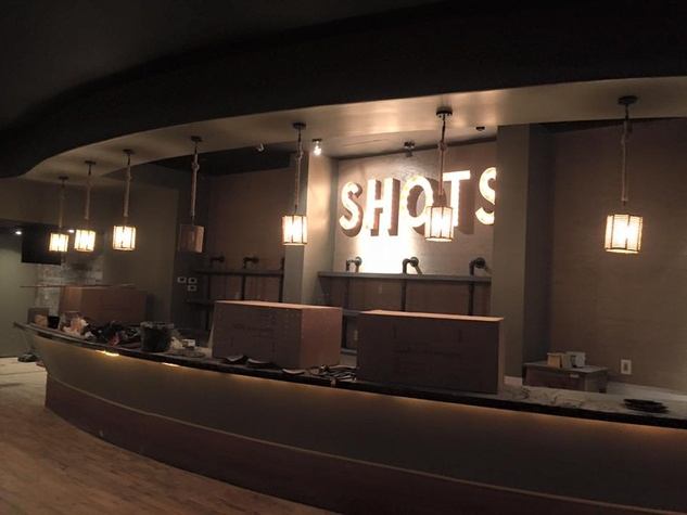 Boots N Shoots upstairs shot bar