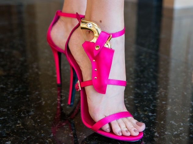 8 Pink shoes with holster at Joyce Echols Shoes Preview March 2015