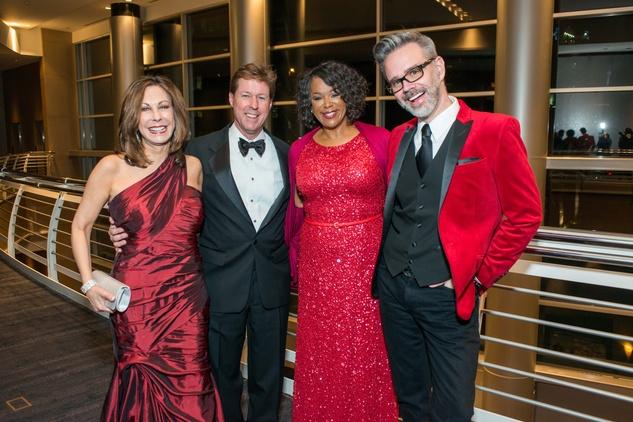 Red Cross Ball, Feb. 2016, Mary Jane Mudd, Chris Mudd, Deborah Duncan, Michael Pearce