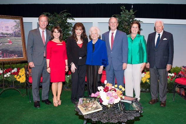 News, Tarra Gaines, Celebration of Reading, April 2015, Neil and Maria Bush; Jackie Collins; First Lady Barbara Bush; President George W. Bush; Doro Bush Koch; David McCullough