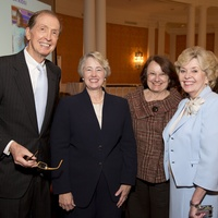 Houston, Spaulding for Children Luncheon, May 2015, John Olson, Mayor Annise Parker, Kathy Hubbard, Linwood Olson