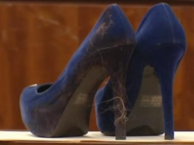 stiletto heel murder blue suede stiletto shoes with hair April 2014