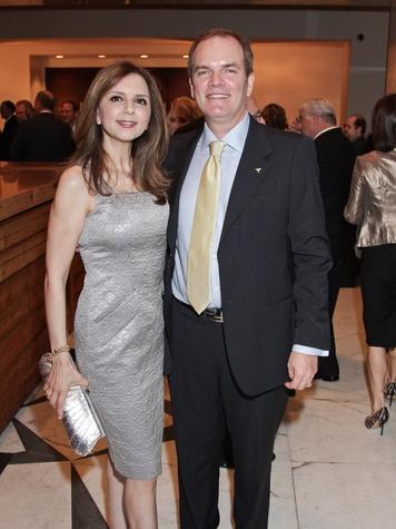 Sallymoon and Alan Benz at the Medical Bridges gala October 2013