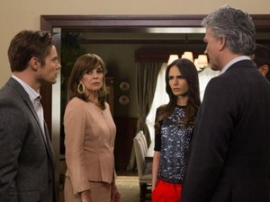 Josh Henderson, Linda Gray, Jordana Brewster, Patrick Duffy in Dallas on TNT