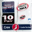 worst stocking stuffers Gildan 10-Pack Crew Length Active Socks