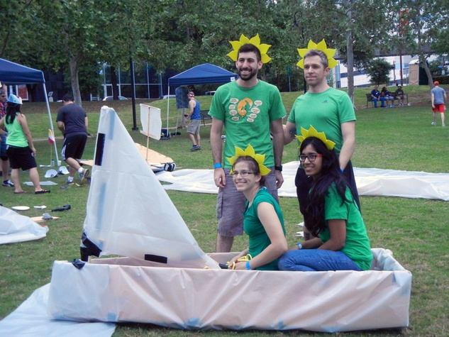7 Jason Golzbein, from left, Justin Smith, Keerthana Udumula and Janna Stover at Anything That Floats 2014