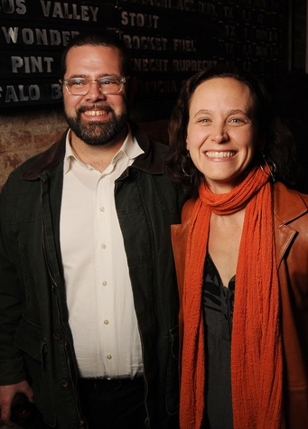 16 Jose Solis and Annie Arnoult at the CounterCurrent Kickoff Party March 2015
