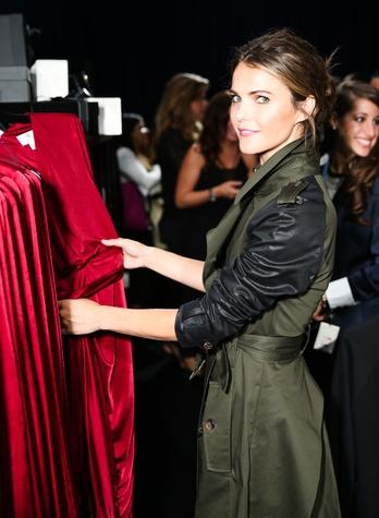 Keri Russell shopping at Target Altuzarra event